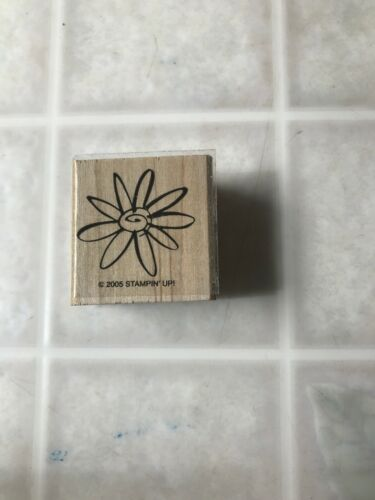 Primary image for Stampin up Wood Mount Rubber Stamp Line Drawing Flower Daisy