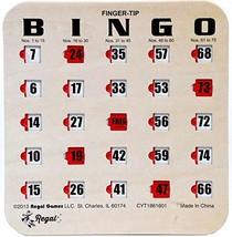 Regal Games 200 Woodgrain/Tan Fingertip Shutter Slide Bingo Cards - $227.12
