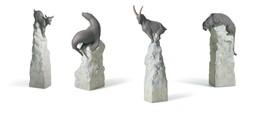 Lladro Retired Balance Set Goat Tiger Seal 8199, 8202, 8196, 8198 animal... - $513.25