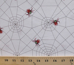 Red Spiders Webs Bugs The Very Series Kids White Cotton Fabric Print BTY... - $8.92