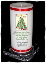 Nan & Grandad Personalised Christmas Candle Gift own message  | Cellini #8 - $16.80