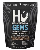 Hu Gems Chocolate Vegan Snacks | Paleo, Gluten Free Dark Chocolate Chips | Bakin