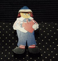 Santa's World-Kurt Adler Wooden Raggedy Andy Ornament With Red Heart  - $5.99