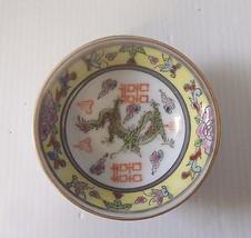 "Vintage porcelain sauce plate with ""dragon"" motif circa mid century ee - $46.60"