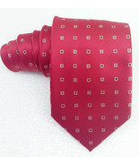 Red Tie 100% silk Made in Italy geometric TRE brand business / bridal  R... - $25.33