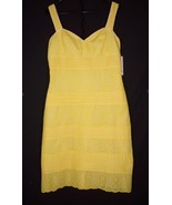 NWT Lilly Pulitzer Kinsey Dress 12 Eyelet Yellow Cotton - $35.99