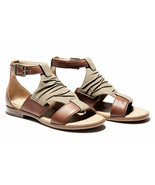 Womens Timberland Cherrybrook Sandals - Brown Leather/Olive Canvas - $132.85 CAD