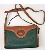 VTG Dooney & Bourke  Crossbody Purse Green Pebbled All Weather Leather Bag - $49.49