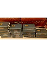Huge Lot of 33 Agatha Christie Mystery Collection Black Bantam Leatheret... - $240.08