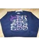 Youth Size XS X Small 4-5 Hanes PRINCESS Sweat Shirt Navy Blue Sweatshir... - $12.00