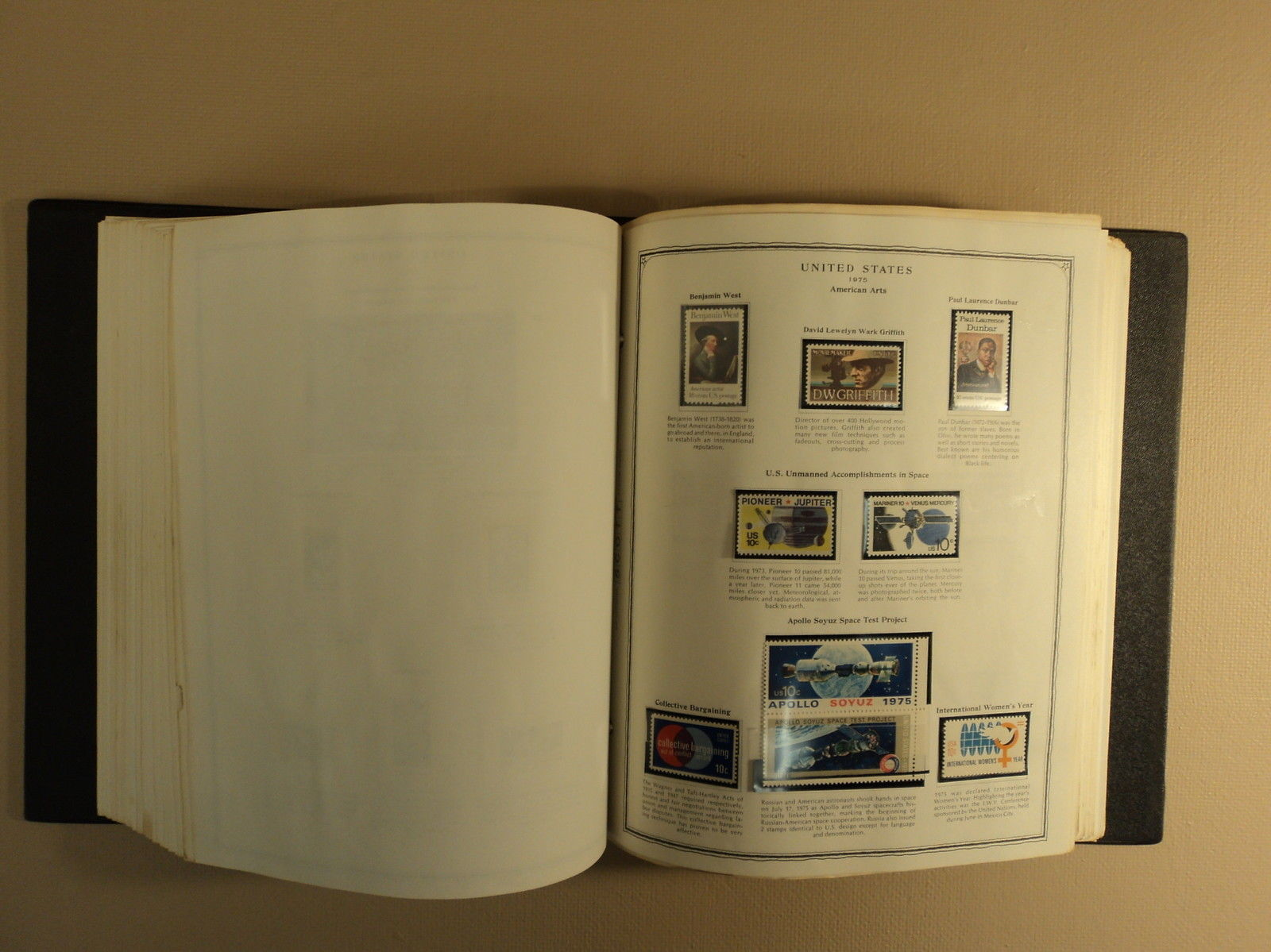 USPS Scott Minuteman Stamp Album 1000 Plus Used Wide Variety