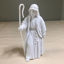 Vintage Avon Nativity 1983 The Shepherd White Porcelain Bisque Figurine - $9.89