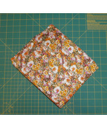"2 Pieces Floral Knit Orange Green Pink White 60""w 67"" total - $6.65"
