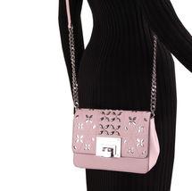 Michael Kors Tina womens small CLUTCH BAG crossbod stud floral Pink NWT  image 7