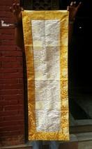 Tibetan high quality silk brocade white long table runner / altar cloth ... - $21.00