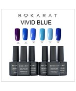Bokarat Soak Off UV LED Vivid Blue Series Gel Nail Polish 6 Bottles x 7.... - $21.99