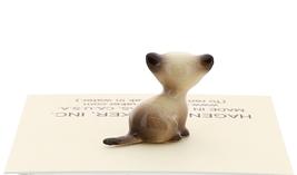 Hagen-Renaker Miniature Cat Figurine Tiny Siamese Kitten Sitting Seal Point image 3