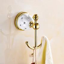 WANFAN 5201 Home Bathroom Decoration Luxury Wall Mounted Dual Hooks Robe... - $55.98