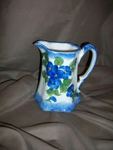 "CASH FAMILY ERWIN TENNESSEE HAND PAINTED 5"" CREAMER PITCHER BLUE CLINCHF... - $14.84"