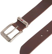 Tommy Hilfiger Men's Premium Logo Casual 35MM Solid Leather Belt 11TL02XZ50 image 6