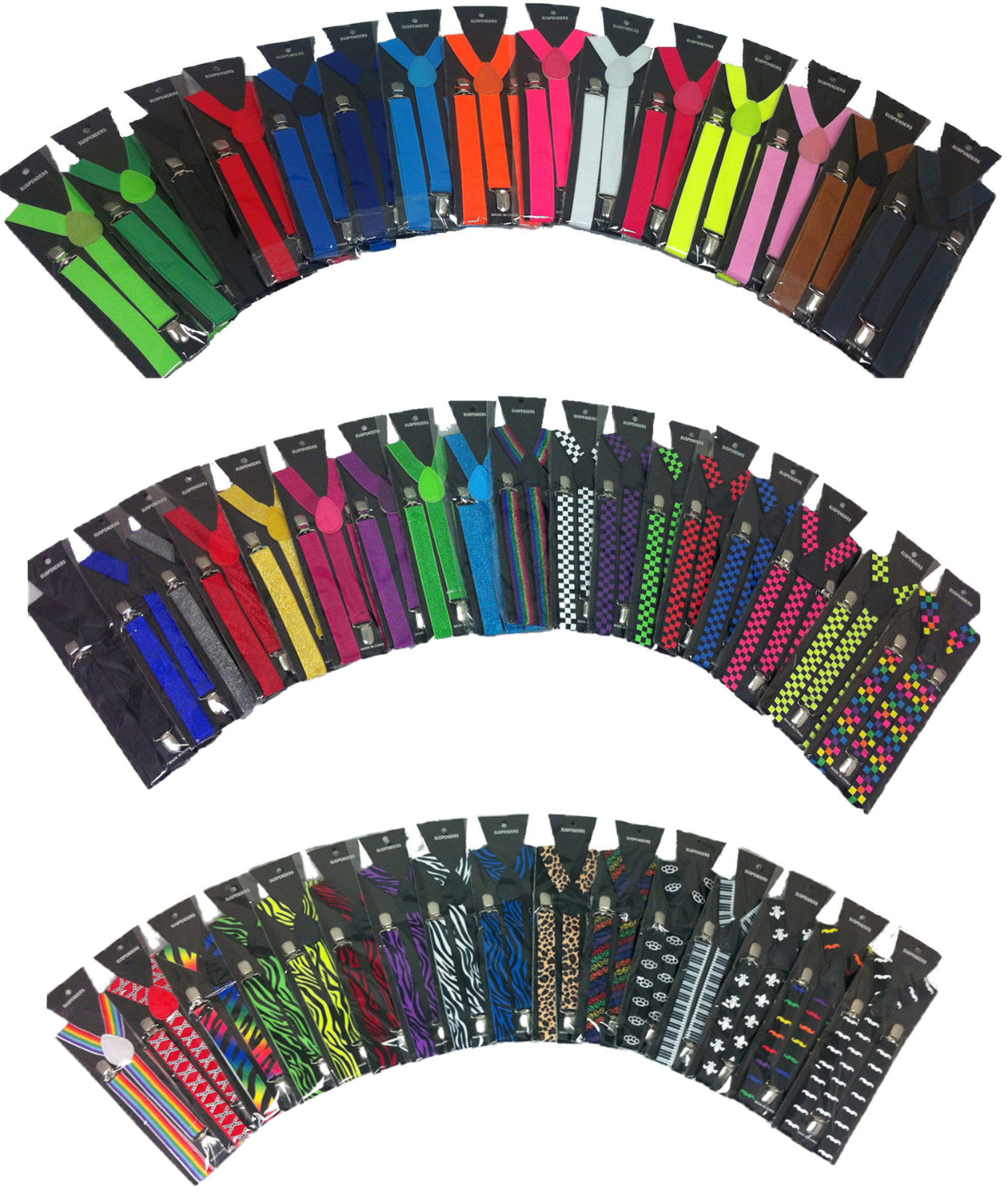 Primary image for Clip-on Suspenders Elastic Y-Shape Adjustable Braces - Plain Color Suspenders