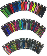 Clip-on Suspenders Elastic Y-Shape Adjustable Braces - Plain Color Suspe... - $6.25+