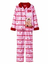 Rudolph the Red Nosed Reindeer Girls Pink Flannel Christmas Holiday Pajamas - $19.16