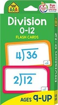 Division 0-12 Flash Cards - $4.08