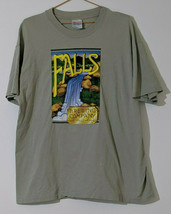 Falls Brewing Short Sleeve T-shirt XL Single Stitch 100% Cotton Made In USA  - $18.81
