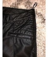 Free People Faux Leather Skinny Moto Pants Ankle Zipper Size 6 - $59.99