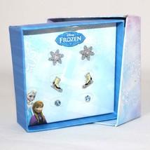 Disney Frozen Ice Skate Earrings Snowflake Jewel 3 PAIRS Kids Jewelry In... - $20.00