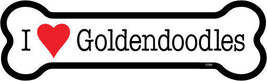 "I Heart (Love) Goldendoodles Dog Bone Fridge/Car Magnet 2""x7"" USA Waterp... - $4.99"