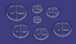 "7 Piece Circle Set - NO seam  4""- 10""  ~ 1/4"" Thick -  Long Arm -Multi Use - $85.99"