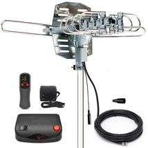 TV Antenna Amplified Indoor Outdoor 150-200 Mile Range Signal Booster HD... - $34.67