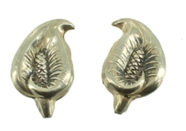 Vintage Sterling Scandinavian Design Calla Lily Mid Century Screw Back E... - $41.39