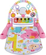 Fisher-Price - Deluxe Kick & Play Piano Gym - Pink/Yellow/White - $78.69