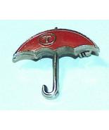 Vintage Viaggiatori Assicurazione Rosso Ombrello Pubblicità Bavero Hat S... - $18.59
