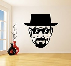 ( 94'' x 91'' ) Vinyl Wall Decal Breaking Bad Heisenberg with Sunglasses / Art D - $190.59