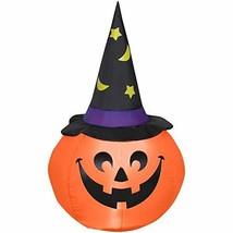 Holiday Living 4-ft Pumpkin W/Witch Hat - £39.33 GBP