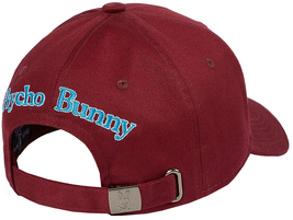 Psycho Bunny Men's Strapback Hat Embroidered Logo Cotton Sports Baseball Cap image 3