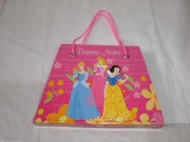 Disney Pink Princess Notes Diary Memo Pad Purse Shape Cinderella Snow White x 3 - $10.35