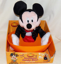 Disney Halloween Motion Activated Vampire Mickey Mouse Trick Treat Candy... - $59.49