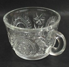 L E Smith Glass Clear Pinwheel and Star Slewed Horseshoe Punch Bowl Mug ... - $4.49