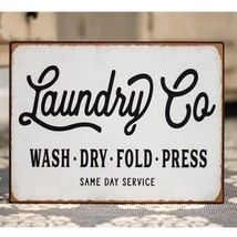 Laundry Co. Distressed Metal Sign  - $39.69