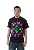 Milkcrate Athletics Noir Hommes Camp Take A Tokyo Weed Marijuna Toke T-Shirt Nwt