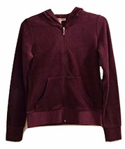 Juicy Couture Pomegranate Track Velour Juicy Crystal Hood Robertson Jacket - $84.14