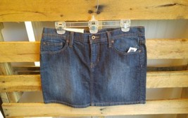GAP JEANS Stretch Denim Jean Skirt Size 8 Fleur De Lis Pockets - $30.73