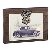 1932 Ford Coupe Car Wall Plaque With V8 Logo Ford Motor Company Led Lights - $32.00