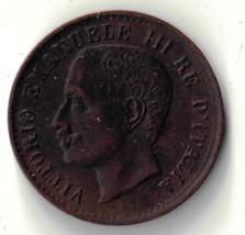 1905 R ITALY 1 CENTESIMO UNCIRCULATED COIN DBW - $20.00