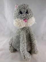 "Adorable Ganz Webkinz Pretty Paws Kitty Kitten Cat Plush 9 "" Tall  Grey - $9.94"